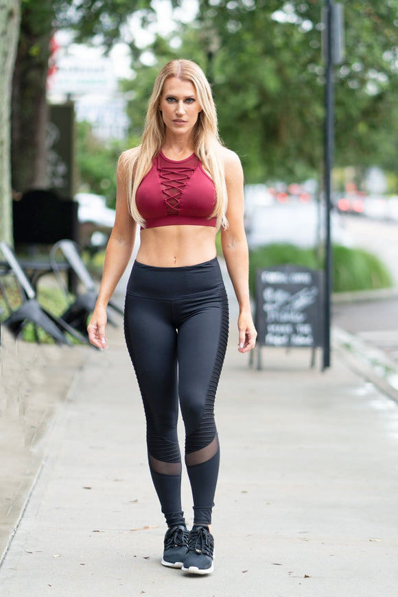 Black Motto Leggings-1