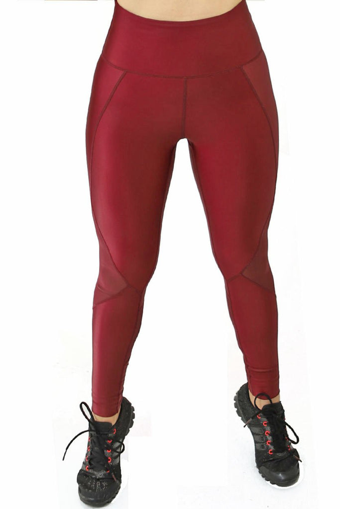 Burgundy Lux Wet Style Leggings