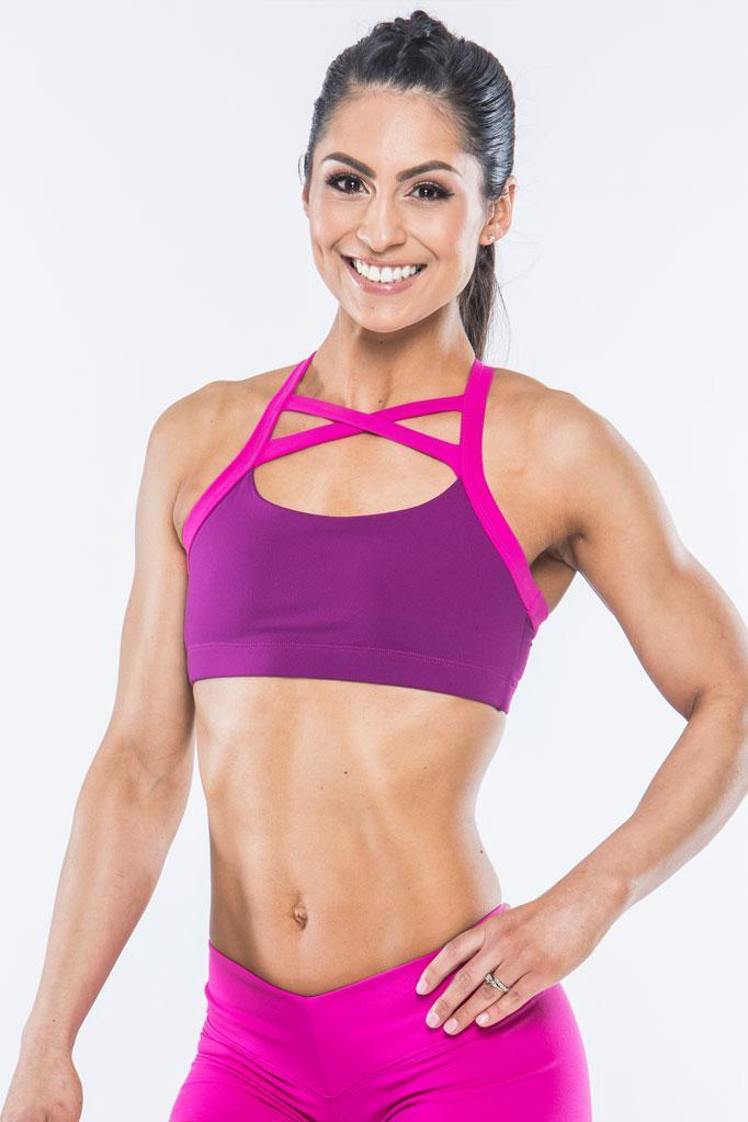 Criss Cross Berry Sports Bra