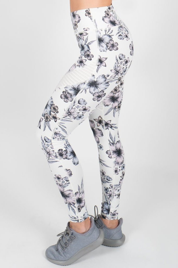 High Waisted Floral Leggings