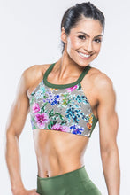 Load image into Gallery viewer, Floral Print Sports Bra