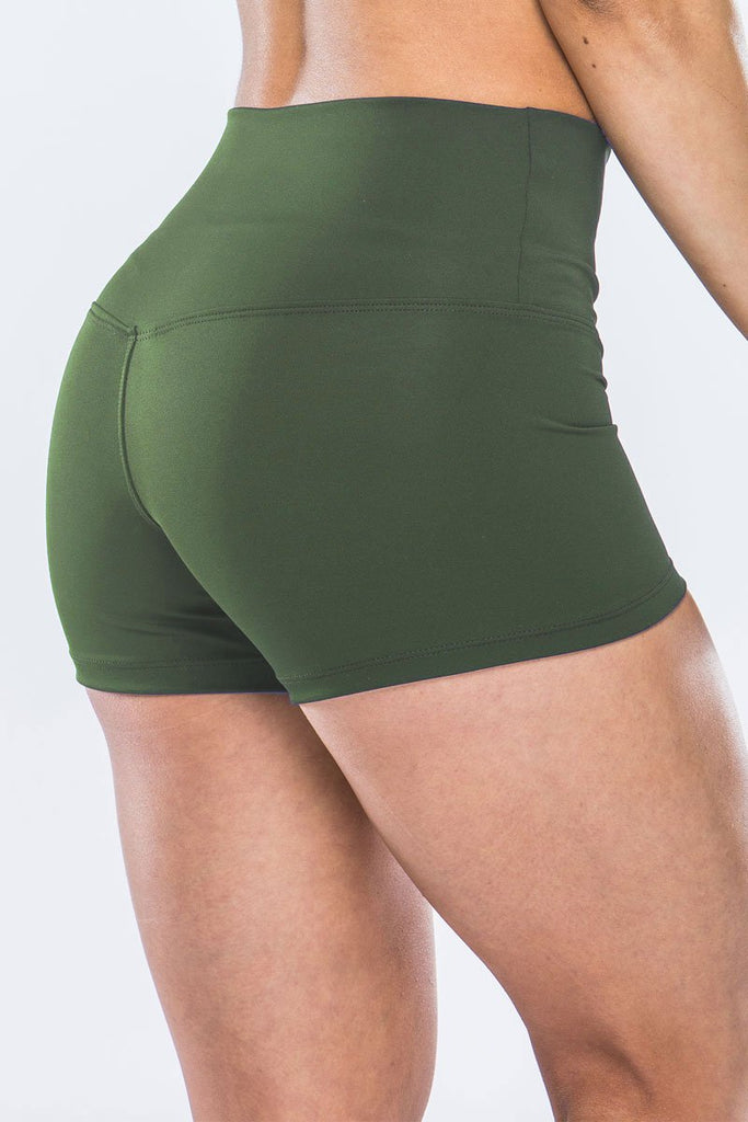 High Waisted Shorts - Green