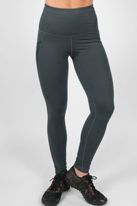 High Waisted with Pockets Leggings - Teal