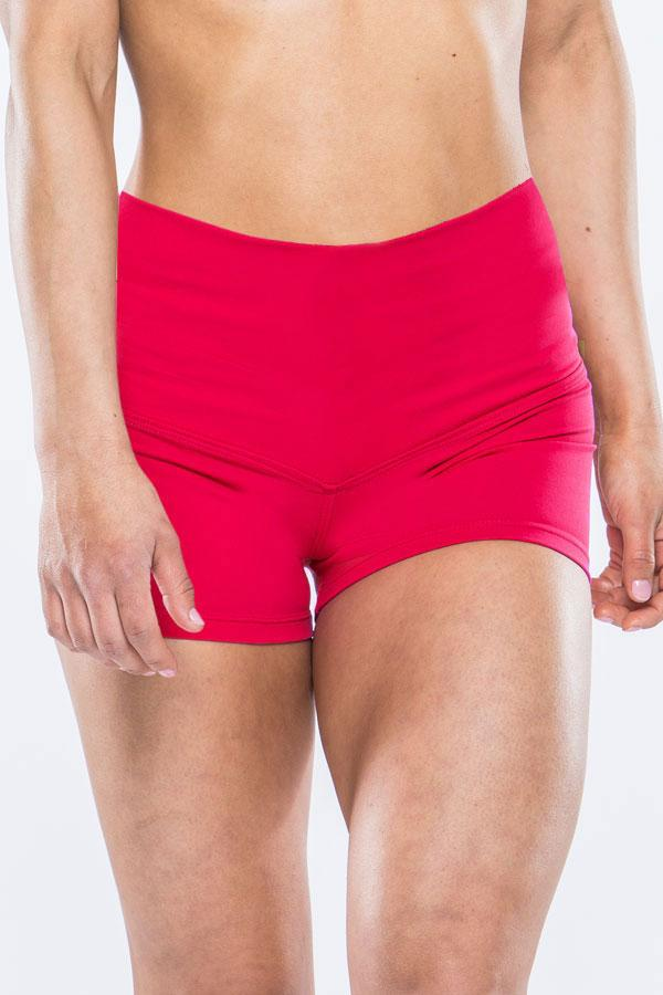 High Waisted Shorts - Red
