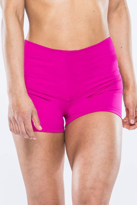High Waisted Shorts - Fuchsia