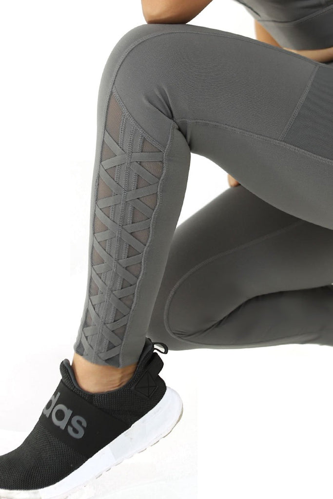 Gray Lace Leggings