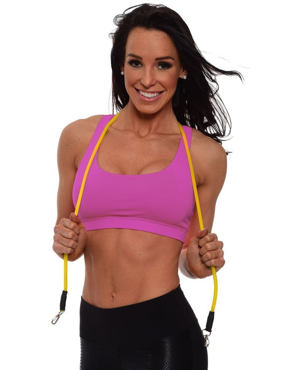 Magenta Criss Cross Sports Bra