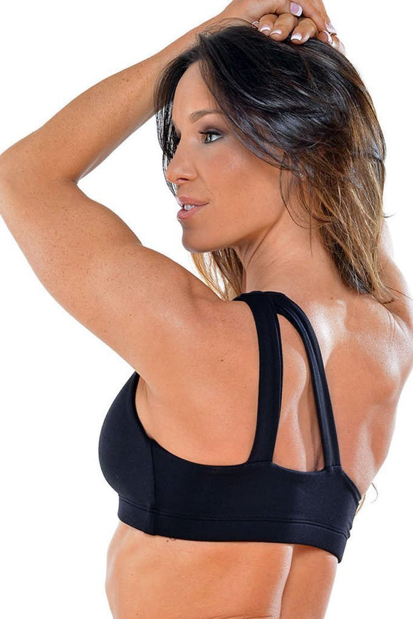 One Shoulder Sports Bra