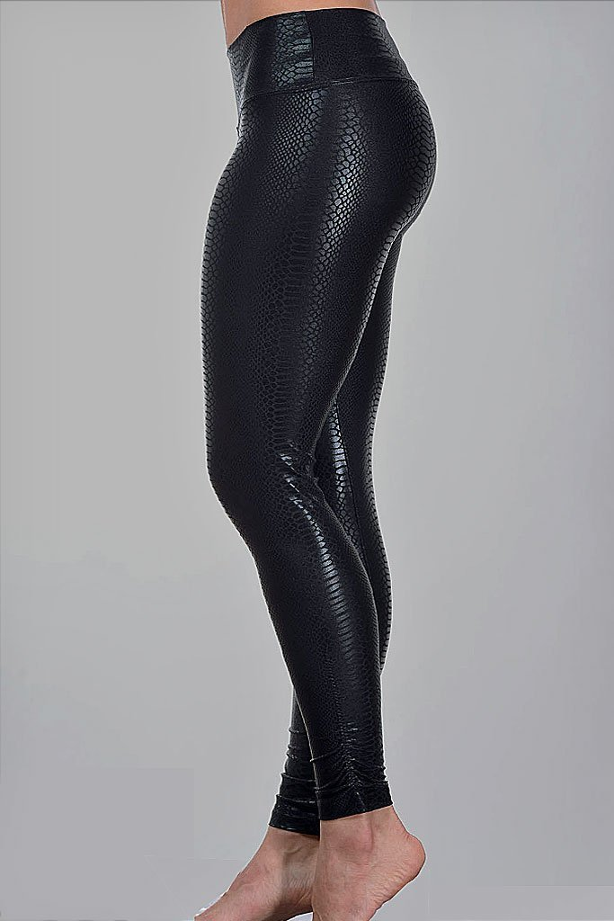 Black Python Leggings