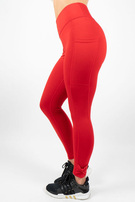 Red Leggings with Pockets