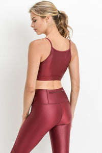 Burgundy Lux Sports Bra