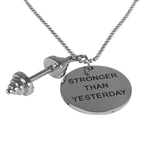 Barbell Dumbbell Necklace