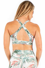 Tropical Print Sports Bra