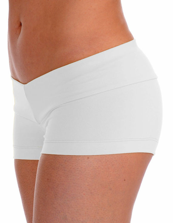 White Yoga Shorts