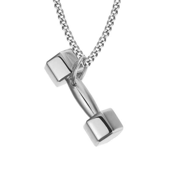 Women's Dumbbell Charm Necklace