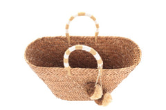 Kayu | St Tropez Natural Woven Straw Tote