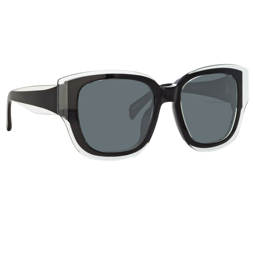 Linda Farrow | Black Senna Sunglasses
