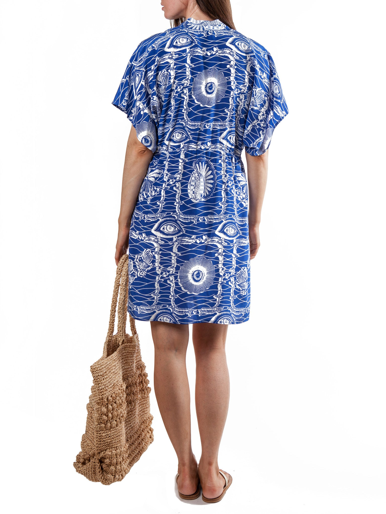 <b>Printed short dress</b><br><i>Silk Crepe de Chine</i>