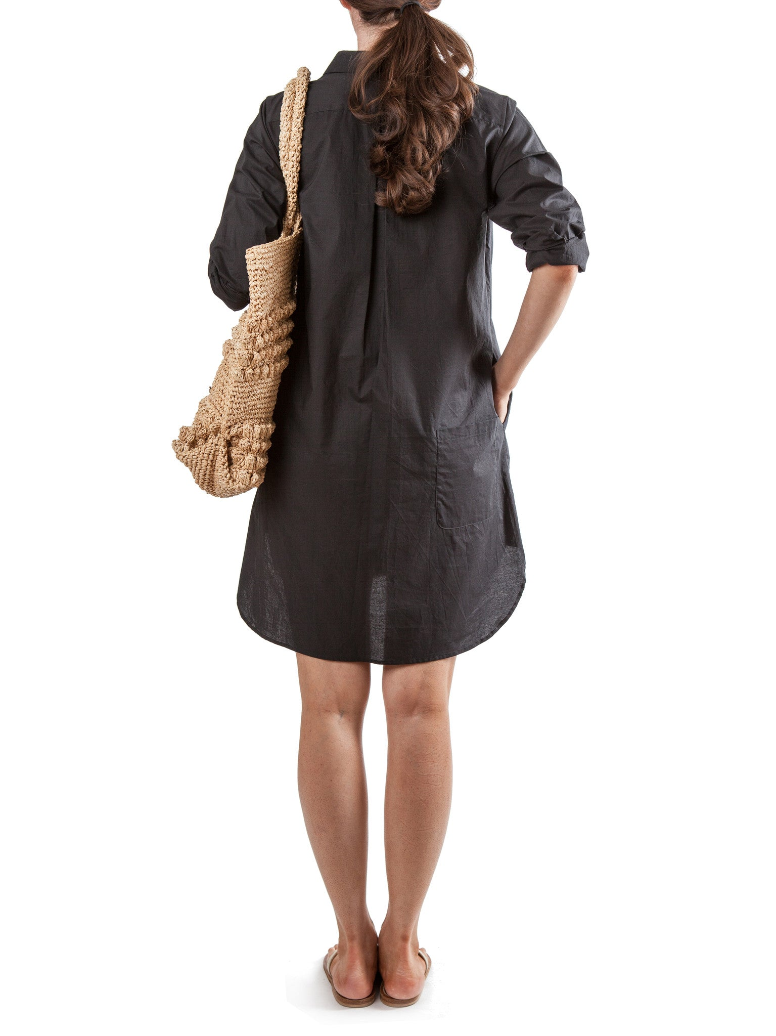 Black tunic dress | Cotton