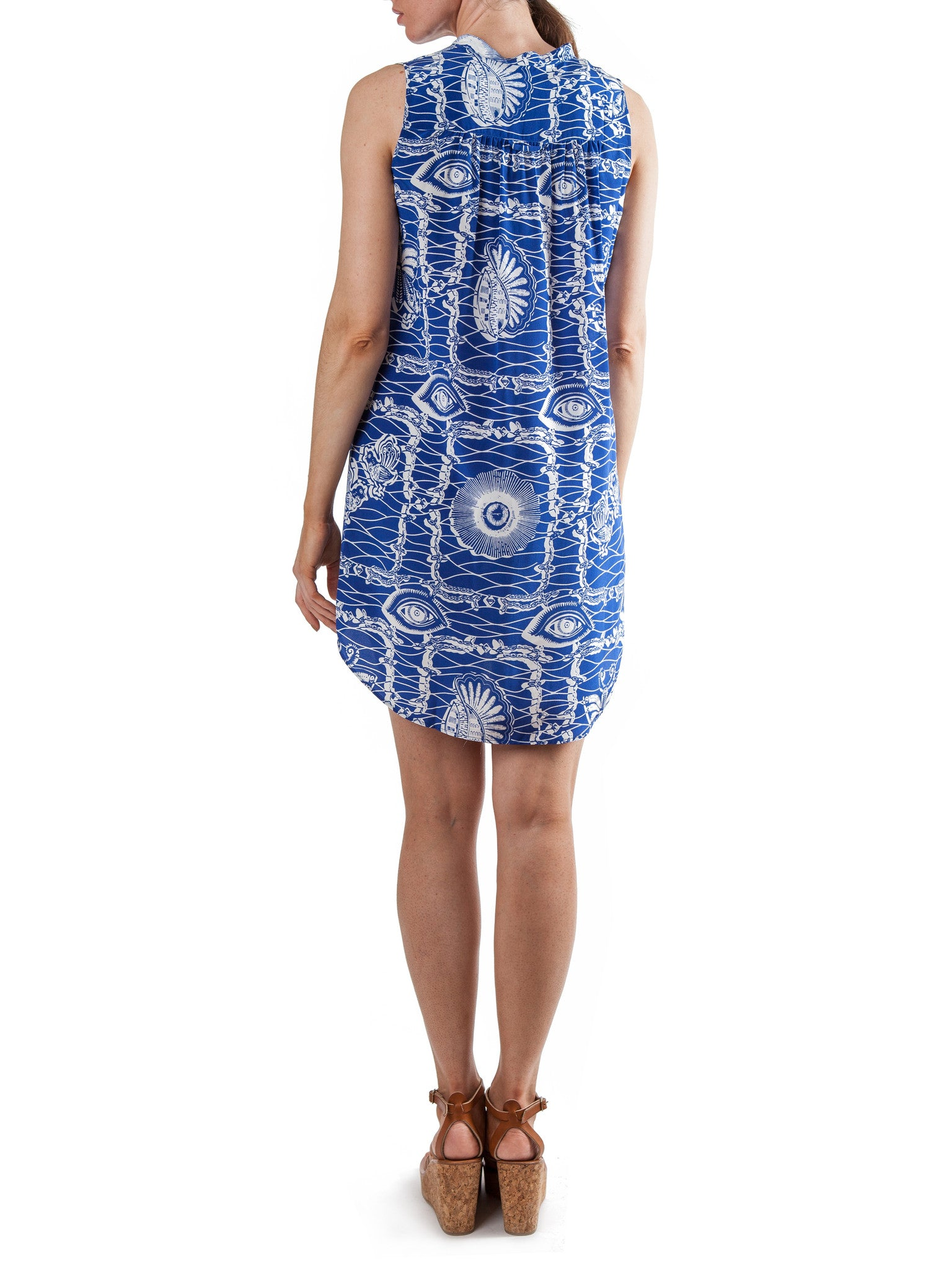 <b>Printed sleeveless short dress</b><br><i>Silk Crepe de Chine</i>