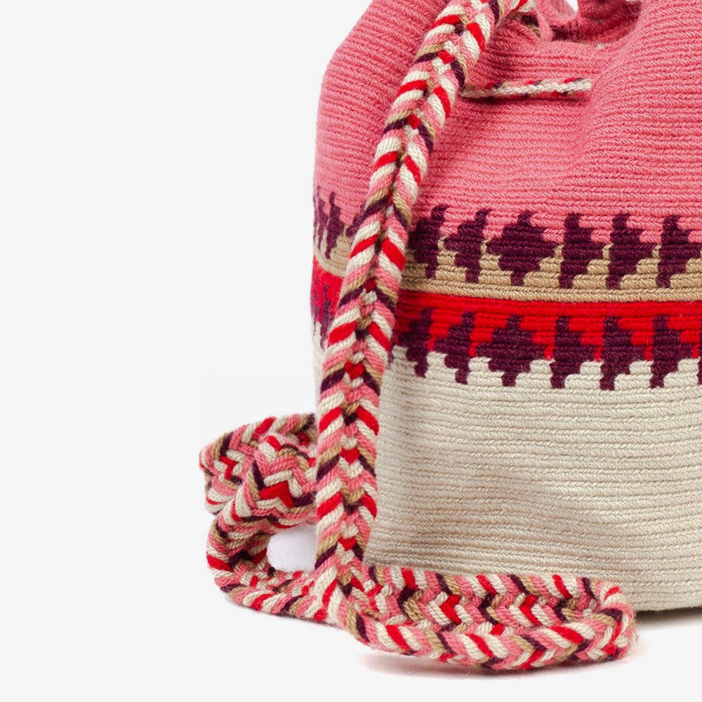 Guanabana | Everest Medium Pink Burgundy Crossbody Bag