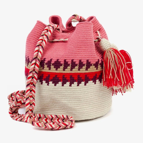 Guanabana | Wayuu Large Beige Brown Crossbody Bag