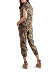 Printed jumpsuit | Silk Crepe de Chine