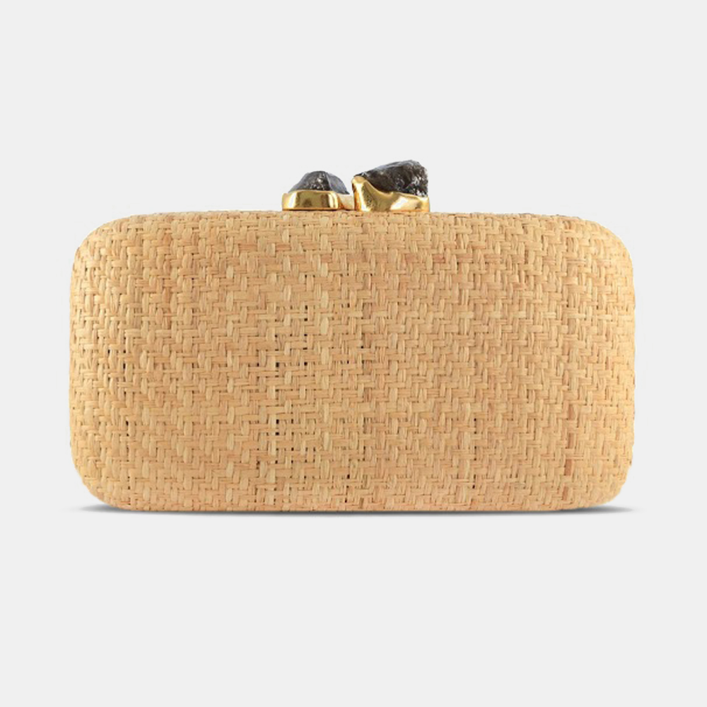 Kayu | Anna Straw Natural Handbag