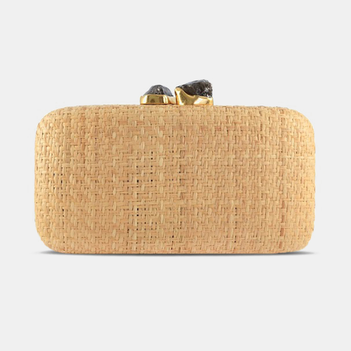 Kayu | Anna Straw Natural Clutch