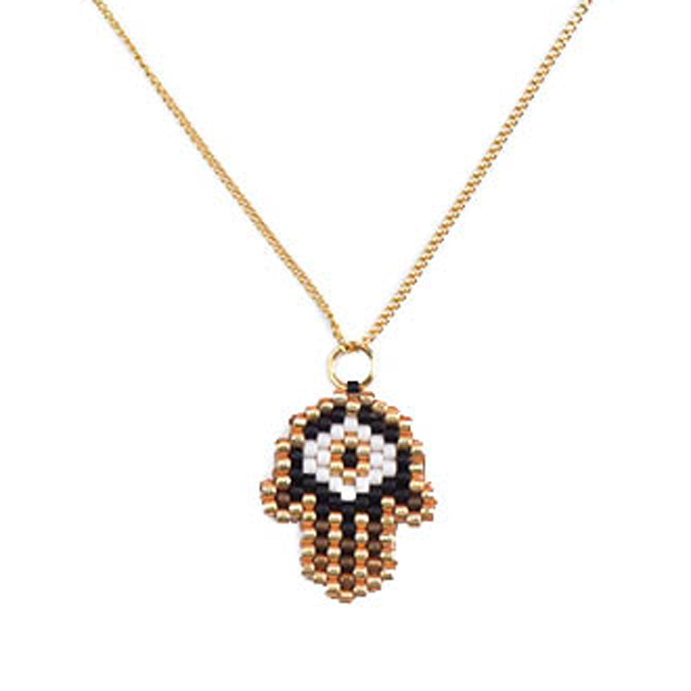 Black Gold Hamsa Necklace