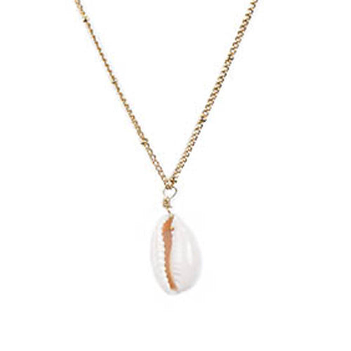 White Gold Shell Necklace