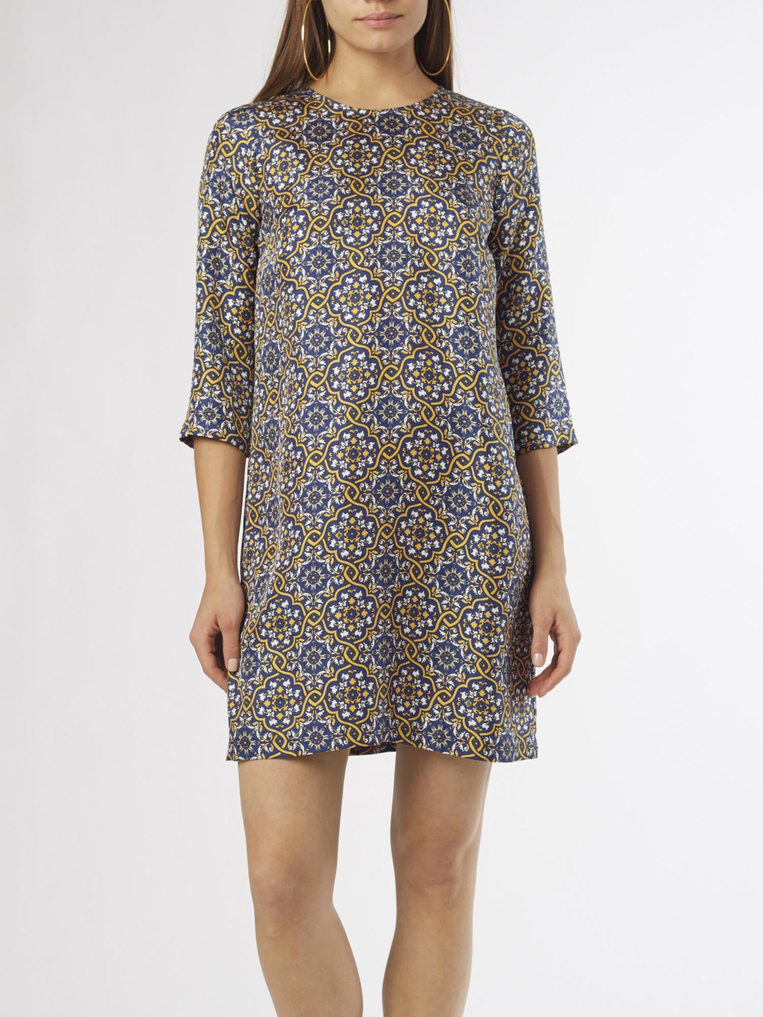 Azulejo Shift Dress | Silk Twill