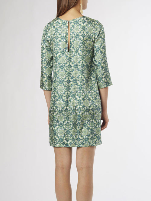 Ines Shift Dress | Silk Twill