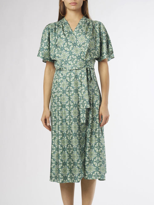 Ines Wrap Dress | Silk Twill