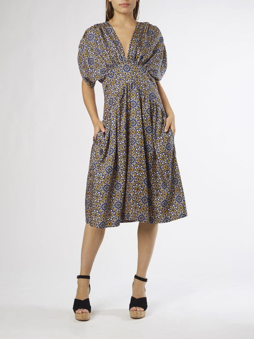 Azulejo Midi Dress | Silk Twill