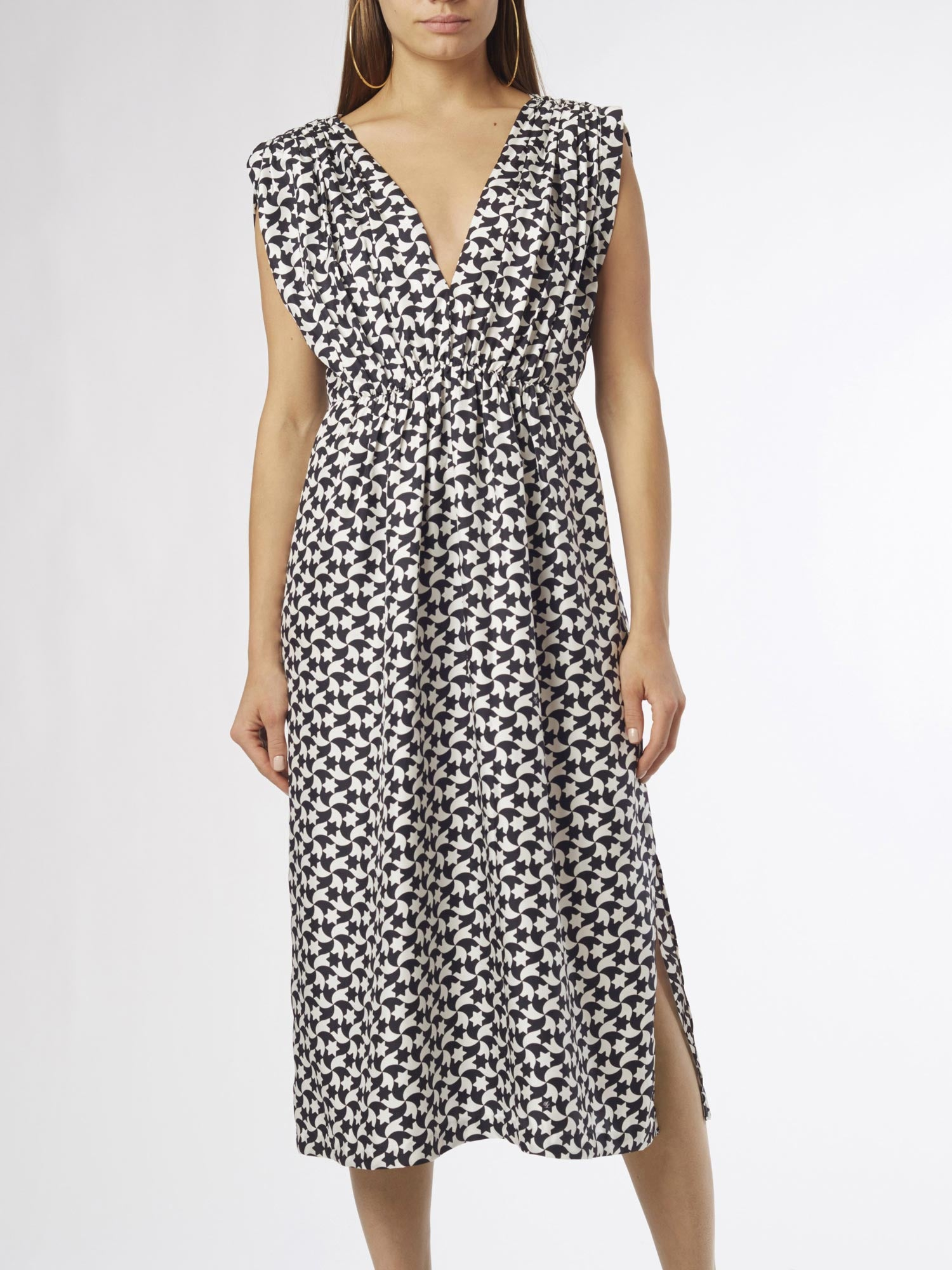 Lisboa Midi Dress | Silk Twill