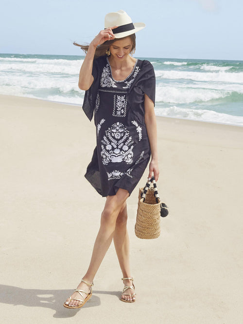 Freya Kaftan Dress | Black