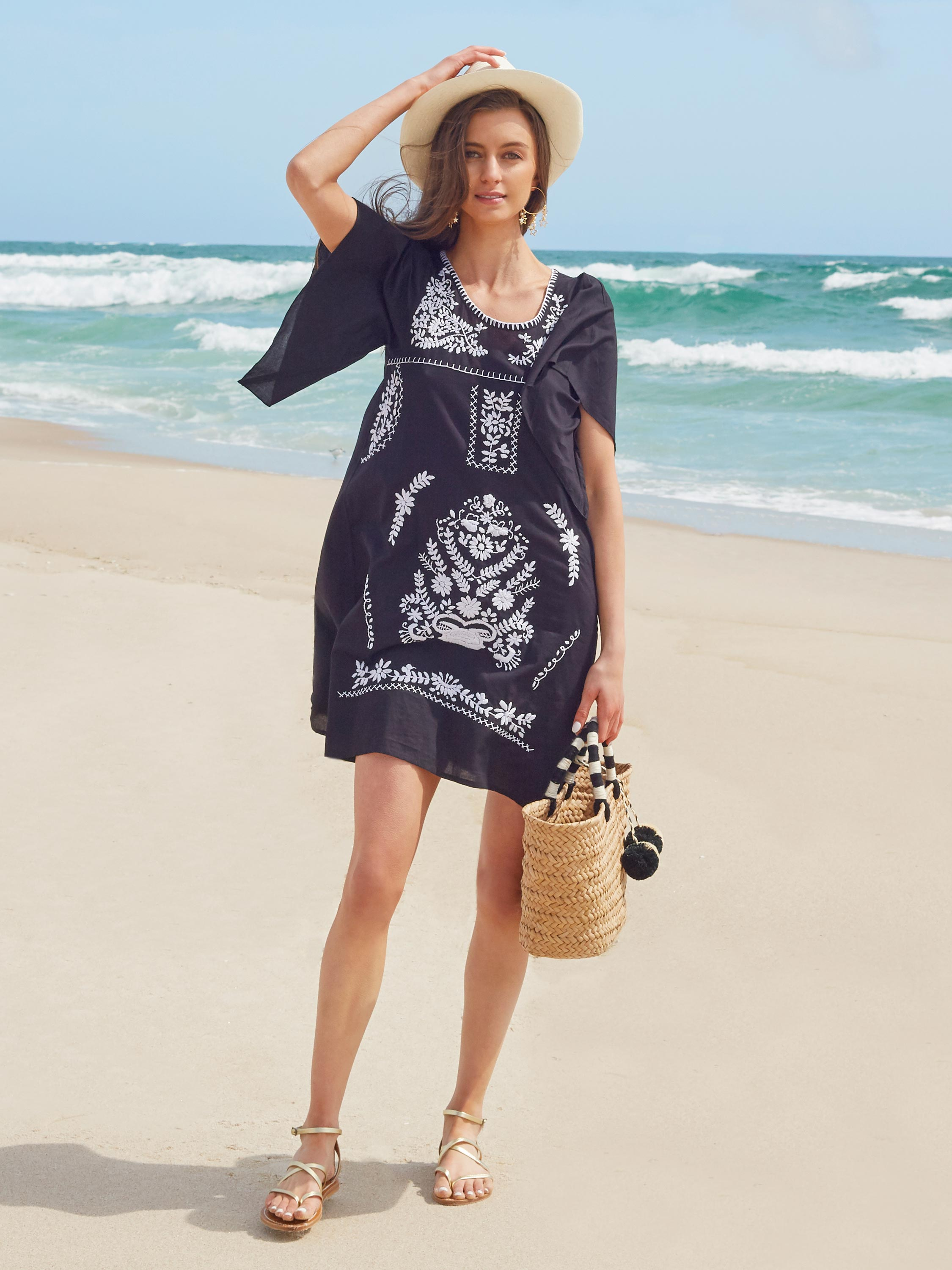 Maya Kaftan Dress | Black