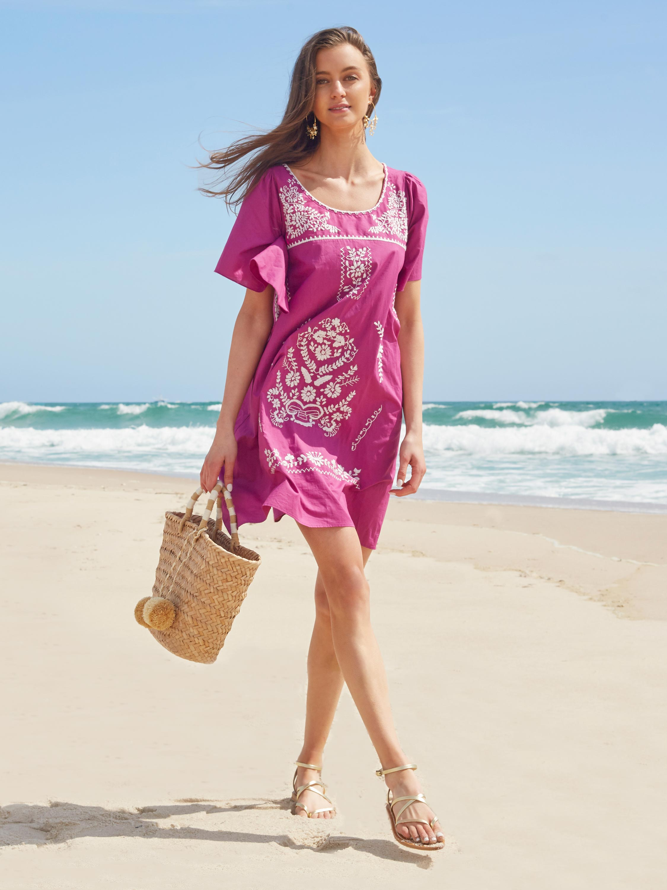 Maya Kaftan Dress | Purple