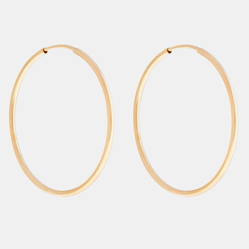 14K Gold Filled Infinity Hoop Earrings