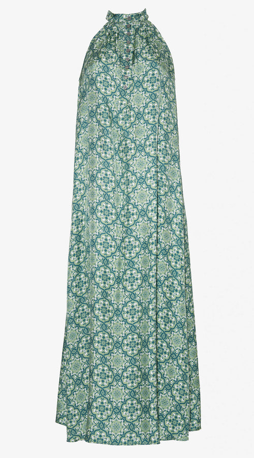 Ines Maxi Dress | Silk Twill