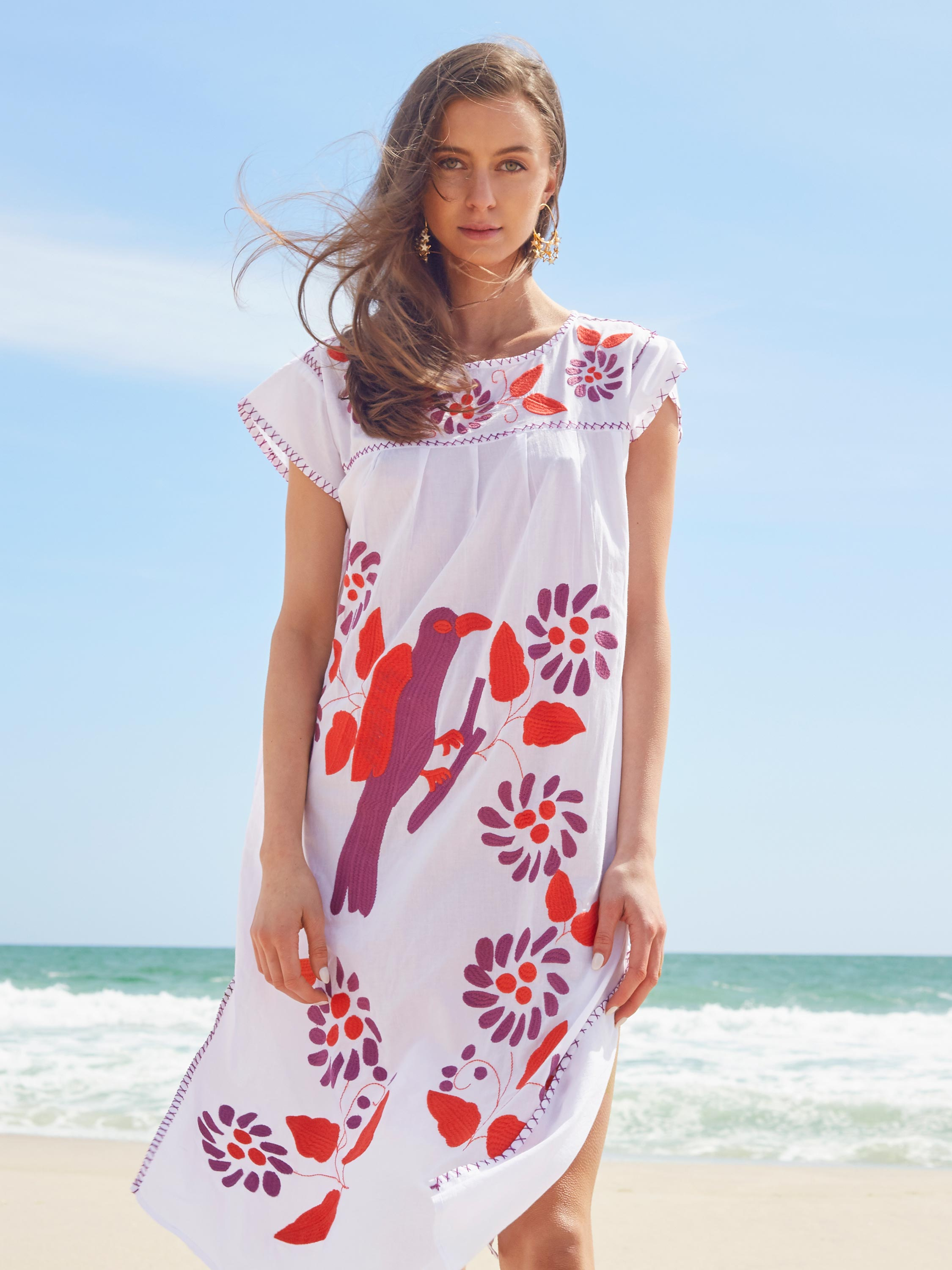 <b>Kaya Kaftan Dress</b><br><i>White</i>