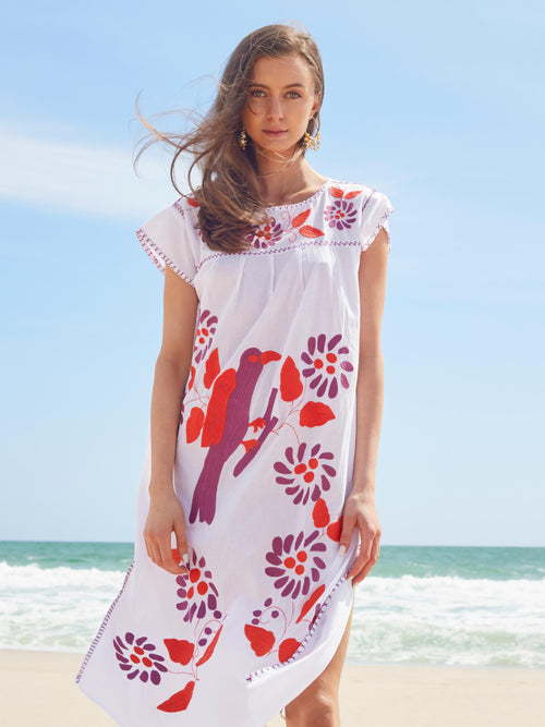 Carmen Kaftan Dress | White