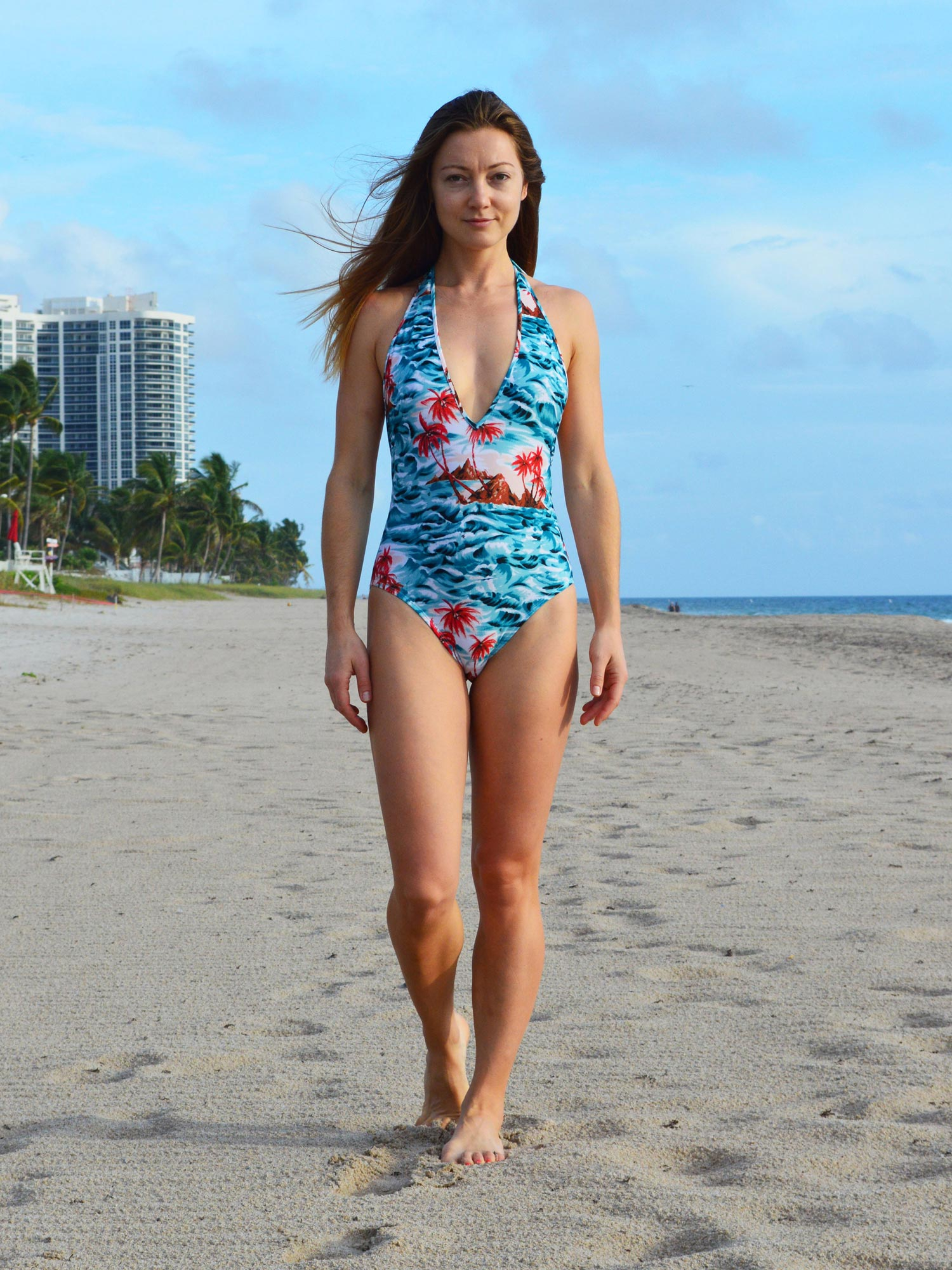 One Piece Swimsuit | Hawaii Print
