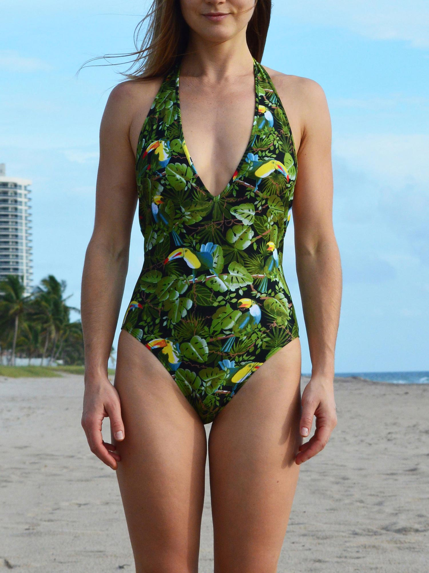 One Piece Swimsuit | Toucan Print