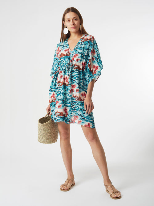 <b>Riva Kaftan Dress</b><br><i>Hawaii Print</i>