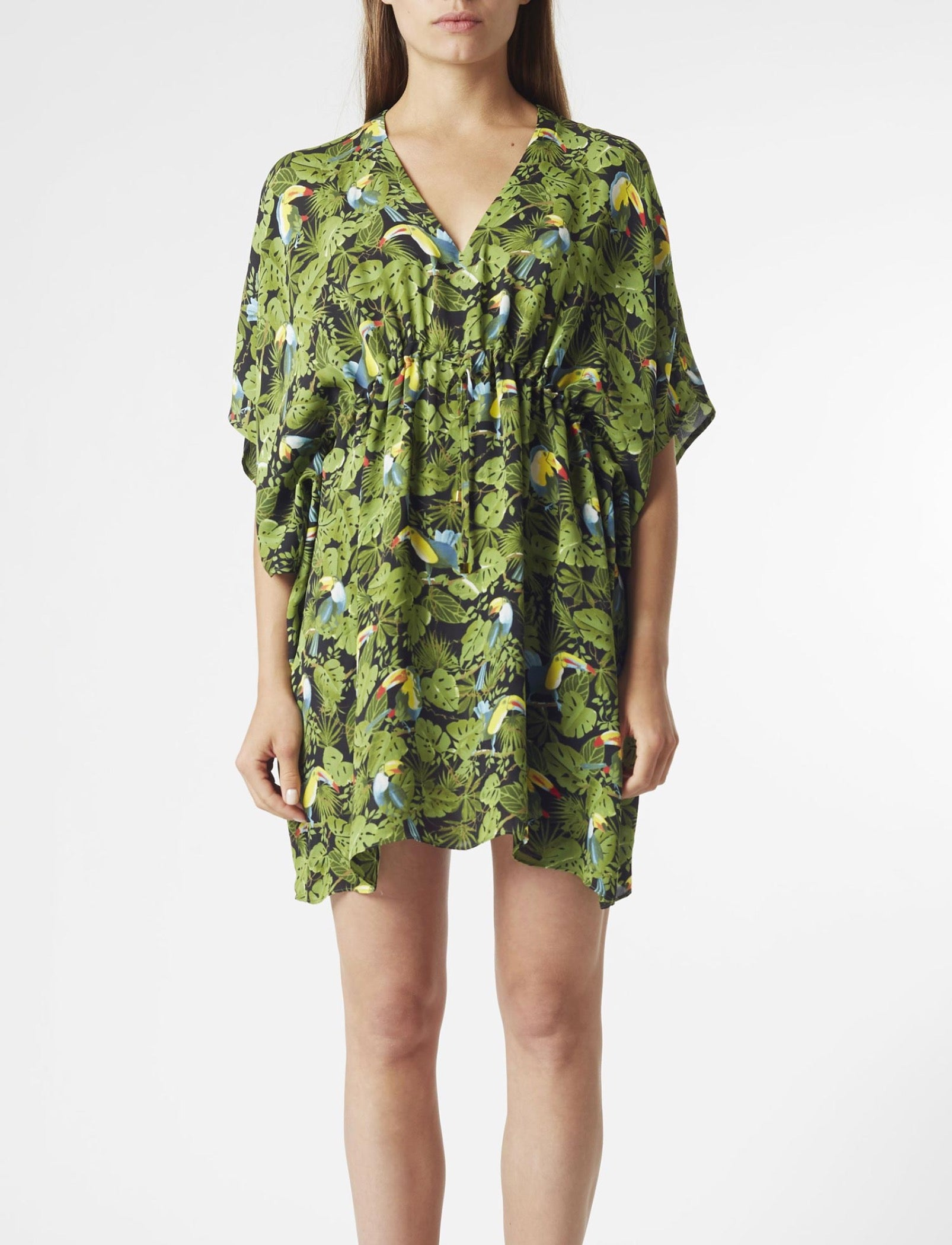 Riva Kaftan Dress | Toucan Print