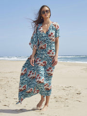 Salma Kaftan Dress | Hawaii Print