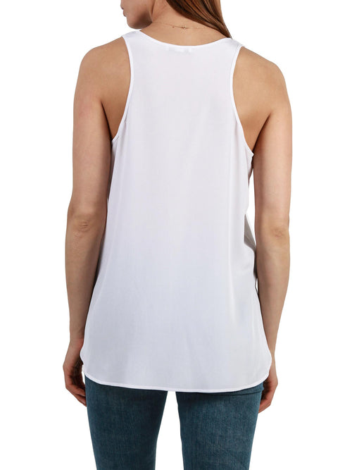 White tank top | Silk Crepe de Chine
