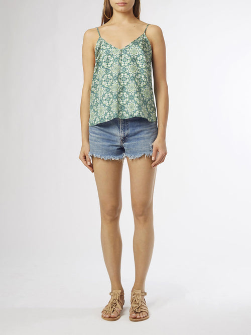 Ines Printed Camisole | Silk Twill